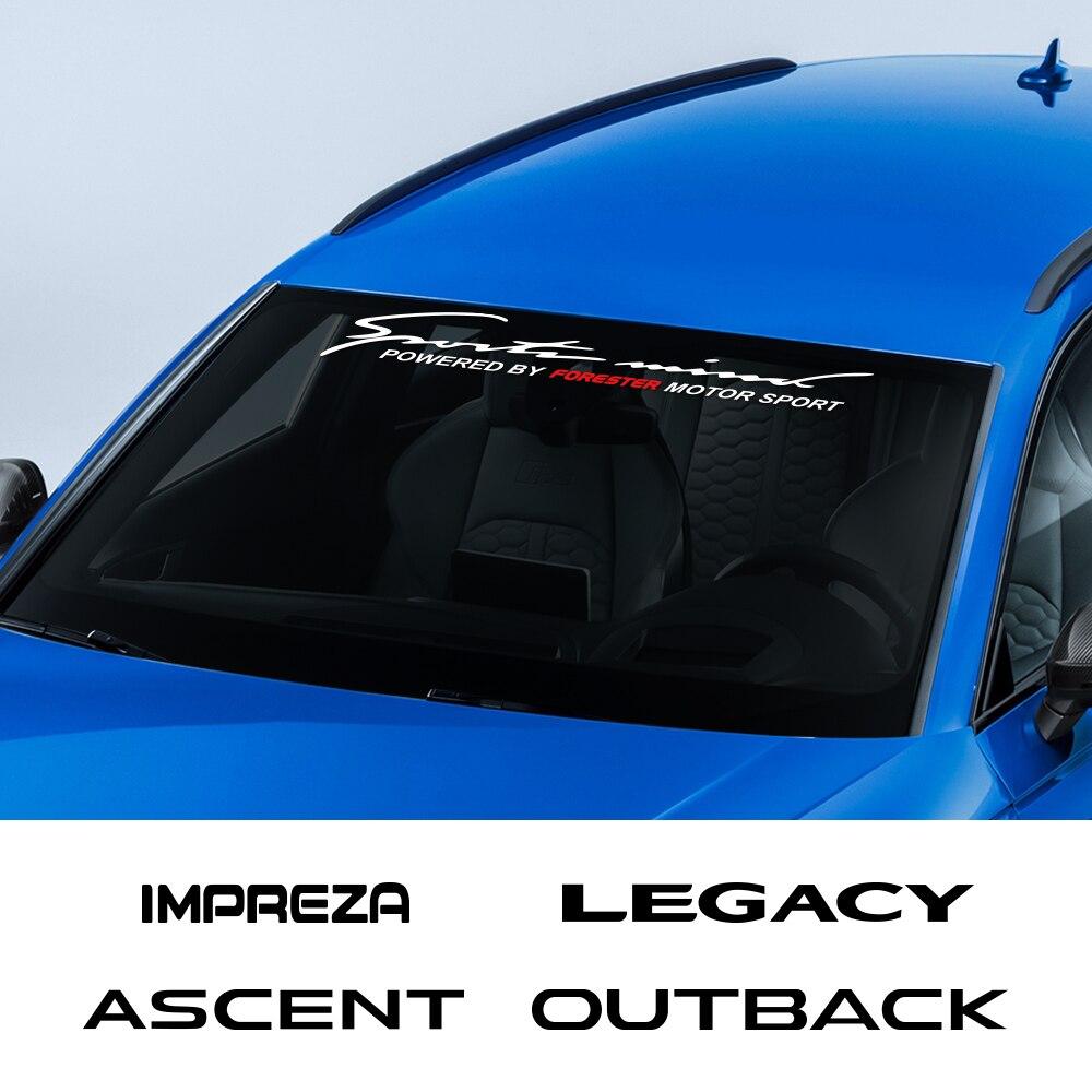 Pegatinas para parabrisas delantero de coche, pegatinas para Subaru, Forester, SH, SJ, Ascent, Crosstrek, BRZ, Exiga, Impreza, Legacy, Levorg, Outback, Tribeca, WRX, XV