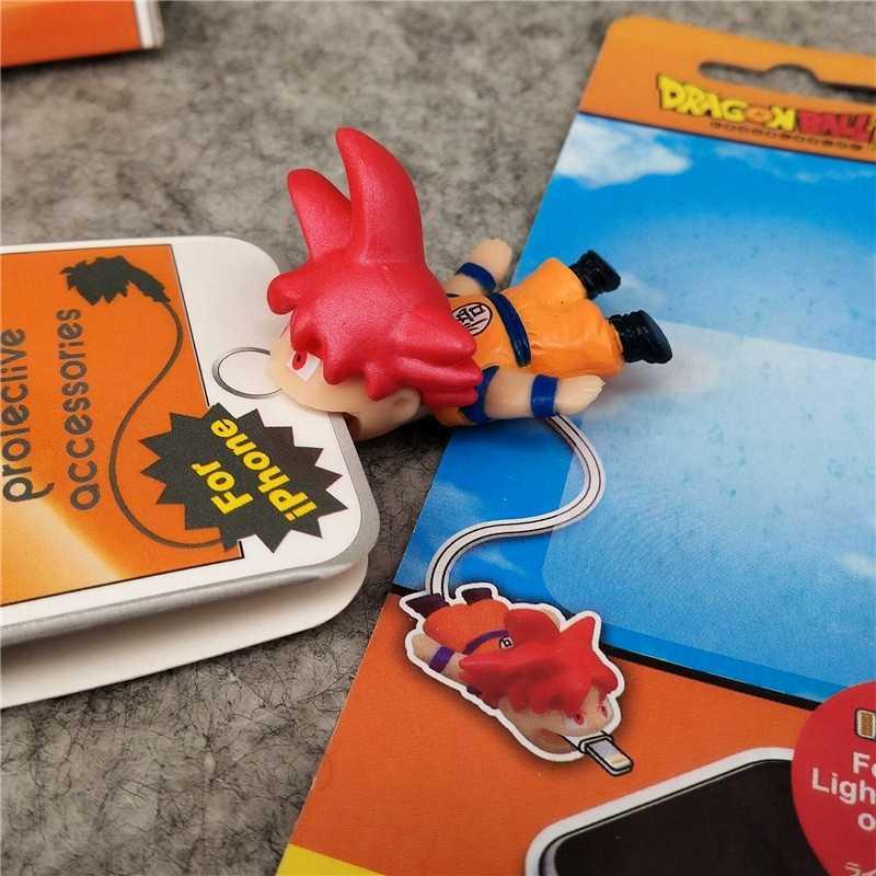 מתנת דרקון כדור דמויות בדיחות מתיחת כבל להגן עבור IPhone כבל ביס בעלי החיים חמוד Cartoon אנימה בובת צעצוע ילדים