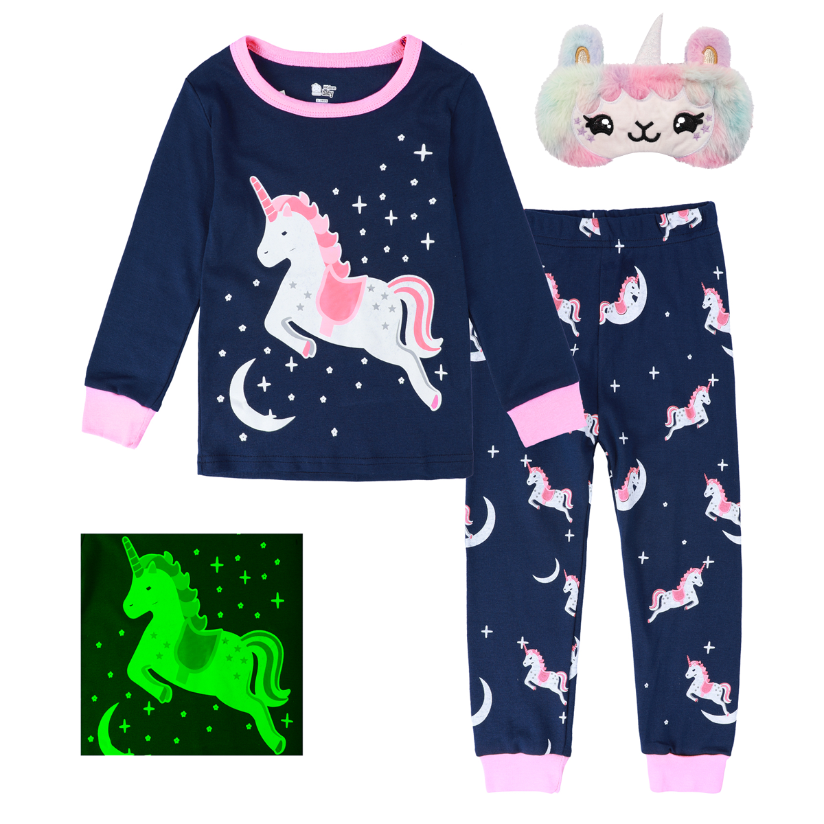 Kids Girls Unicorn Pajamas Set Children Cotton Sleepwear Toddler Casual Mermaid Nightwear Infant Cute Homewear Clothes 2-8Y