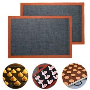 Forro perfurado da folha do forno de cozimento da anti-vara da esteira do cozimento do silicone para o biscoito/pão/macaroon/biscoitos ferramentas da cozinha quente