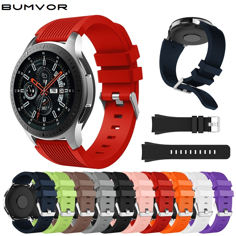 Galaxy Watch 46mm Watch Strap 22mm Band Silicone For Samsung Band Strap Smart Bracelet Sport Replacement Accessories Watch Bands