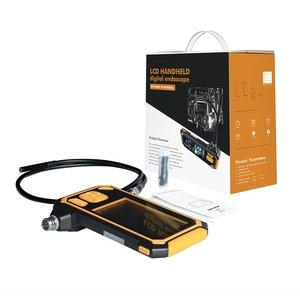 Digital de 1080P LCD inskam112 8mm Âmbito Snake Endoscópio Sonda À Prova D' Água Câmera de Inspeção HD Handheld Boroscópio 5m Rígida cabo Lupas     -