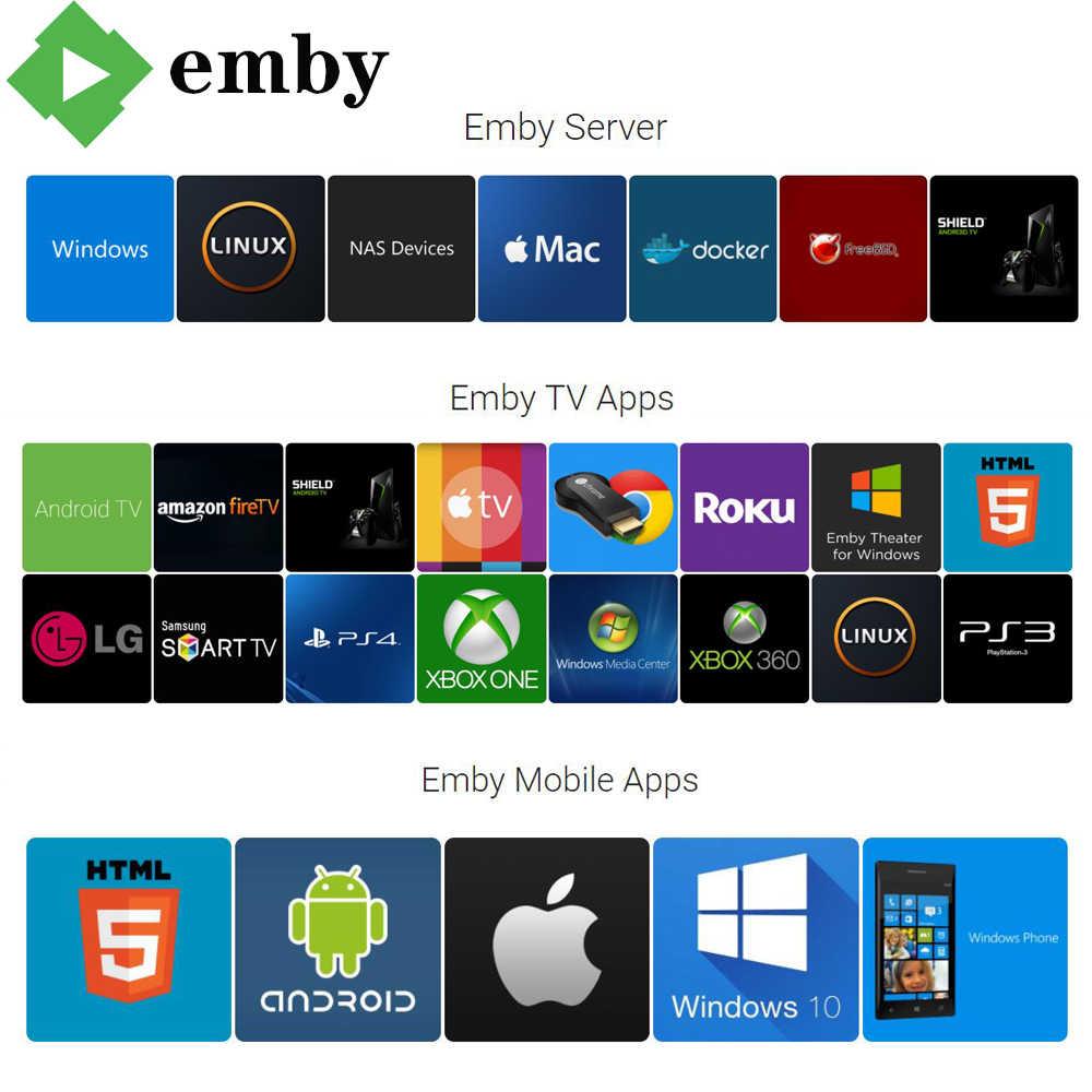 1 an compte Emby Version espagnole avec NETFLI HB0 4K UHD pour Smart TV Box Android Mobile Smartphone Windows PC PK PLEX espagne