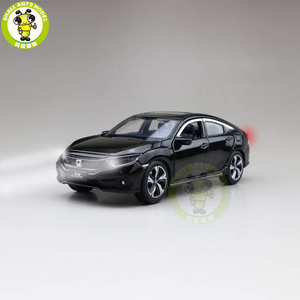 1/32 Jackiekim CIVIC Diecast Metal Model CAR Toys Kids Children Sound Lighting Gifts