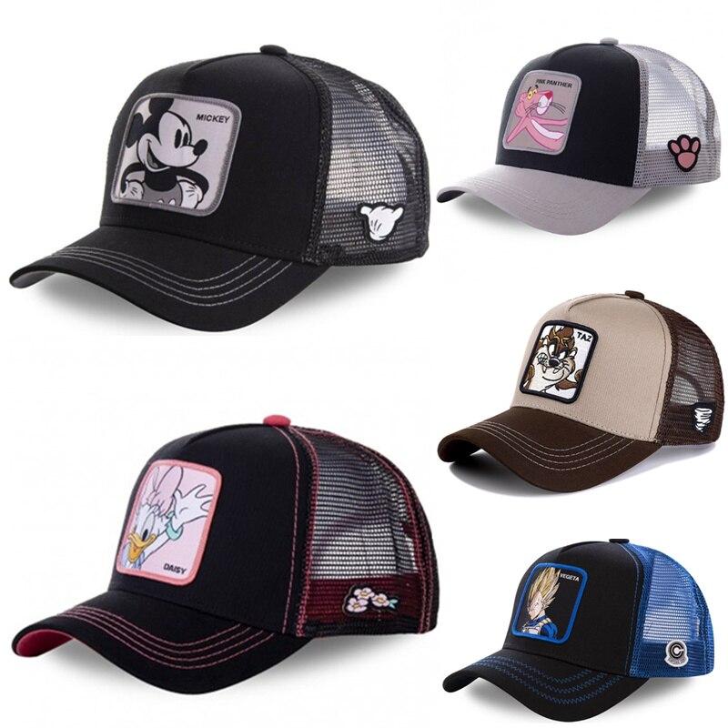 Gorra de malla con estampado de Dragon Daisy, Mickey, Snapback, Gorra de béisbol de algodón, Hip Hop, unisex