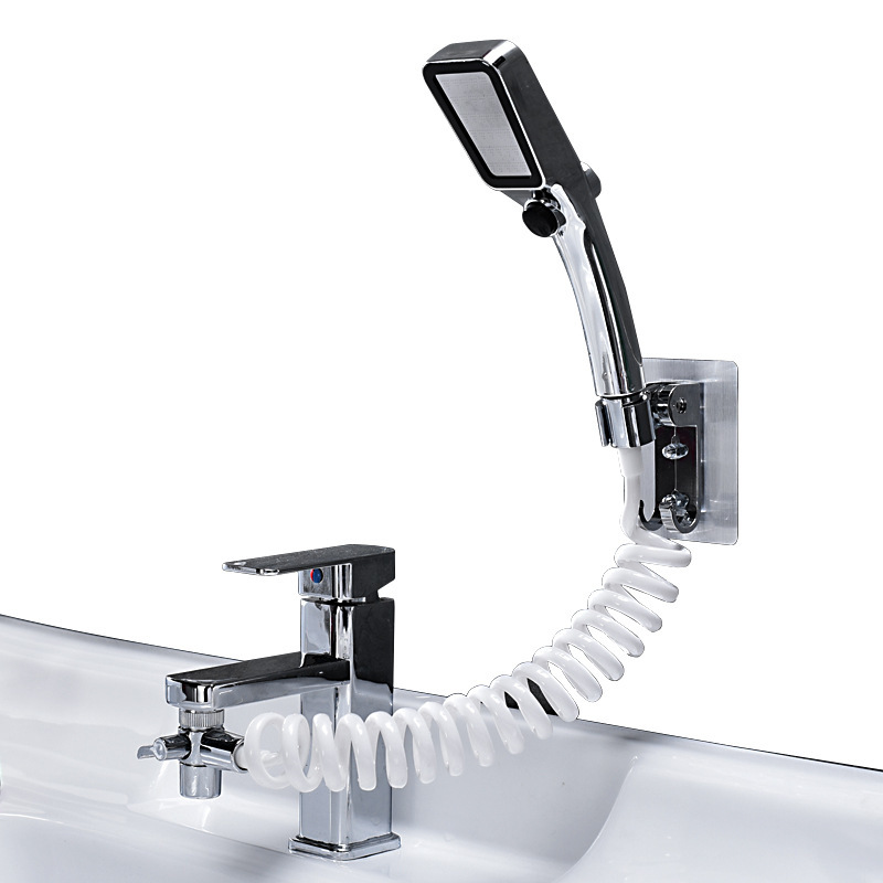 Home Wash Hair Basin Water Tap External Shower Toilet Hold Filter Flexible Small Nozzle Suit Wash Household Artifact Shower