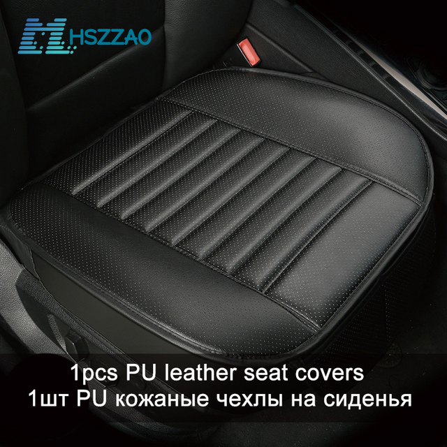 $ US $11.77 Ultra-Luxury Car Seat Protection Single Seat Without Backrest PU Senior Leather Car Seat Cover For Most Four-Door Sedan&SUV