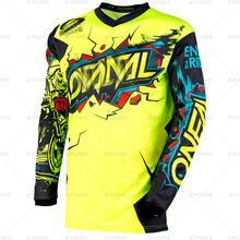Motorfiets mountainbike team downhill jerseyfox MTB Offroad DH MX fiets locomotief shirt cross country mountainbike ONEALING(China)