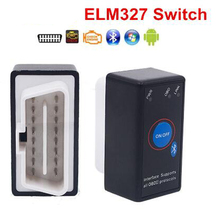 Interruptor de alimentación Super Mini ELM327, herramienta de diagnóstico de coche con Bluetooth ELM 327, V2.1, botón de encendido/apagado OBD2, varios idiomas para protocolos OBDII