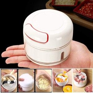 Manual Food Chopper Mini Gralic Grinder Press Mincer Food Processor for Chili Ginger Vegetable Fruits --M25