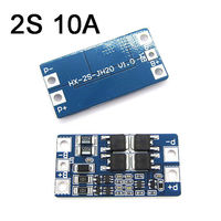 2S BMS 10A 6.4V 7.4V w/Balance Lifepo4 Lithium Li Ion 18650 Battery Protection Board 3.2v 3.7v|  -