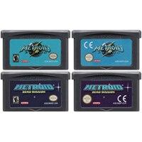 Cartouche de jeu vidéo 32 bits pour Nintendo GBA, carte de Console, édition Metroide Fusion Zero Missio Metroi Series