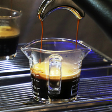 70ml ESPRESSO Heat Resistant Glass Measuring Cup Kitchen Jigger for Espresso Coffee Double Mouthed Ounce Cup