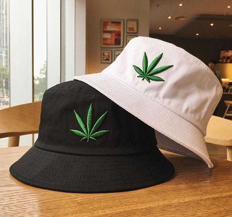 New Men Women Maple Leaf Hat Hip Hop Panama Fisherman Hats Cotton Outdoor Summer Casual Fishing Visor Bucket Cap