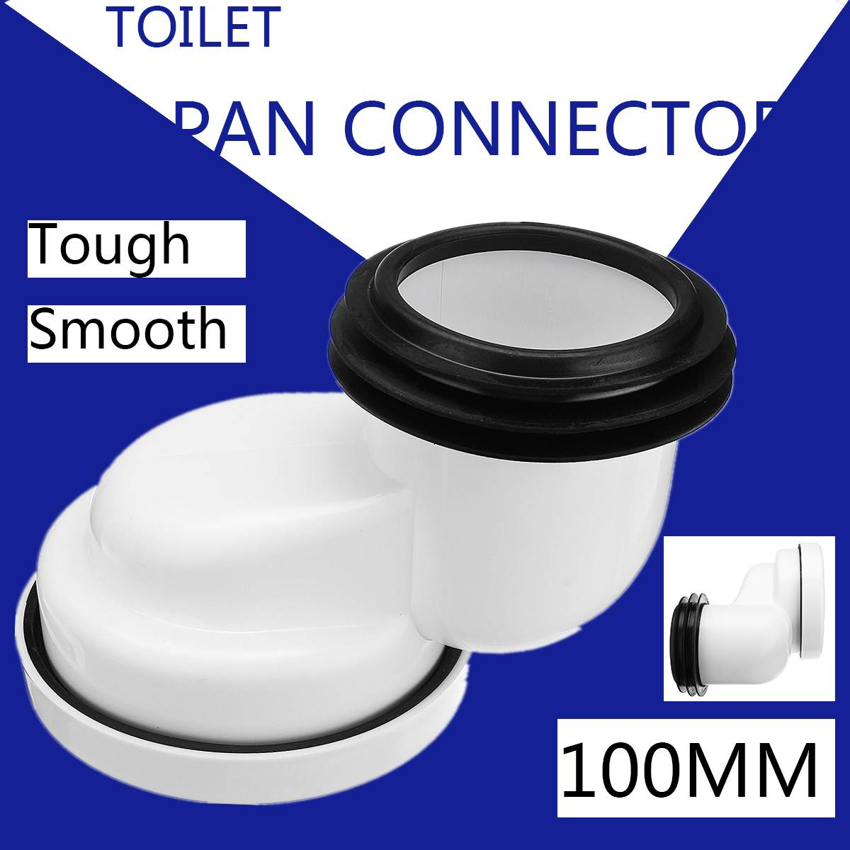 100mm PVC Offset Misaligned Toilet WC Waste Pan Connector Bowl Smooth Soil Pipe White PVC Bathroom Toilets Parts Accessories