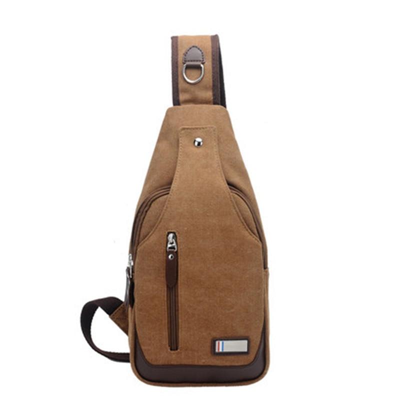 Casual Anti-Theft Men's Chest Pack Korean-style Stylish Shoulder Bag Canvas Tactical Fashion Outdoor MEN'S Bag Shoulder Bag