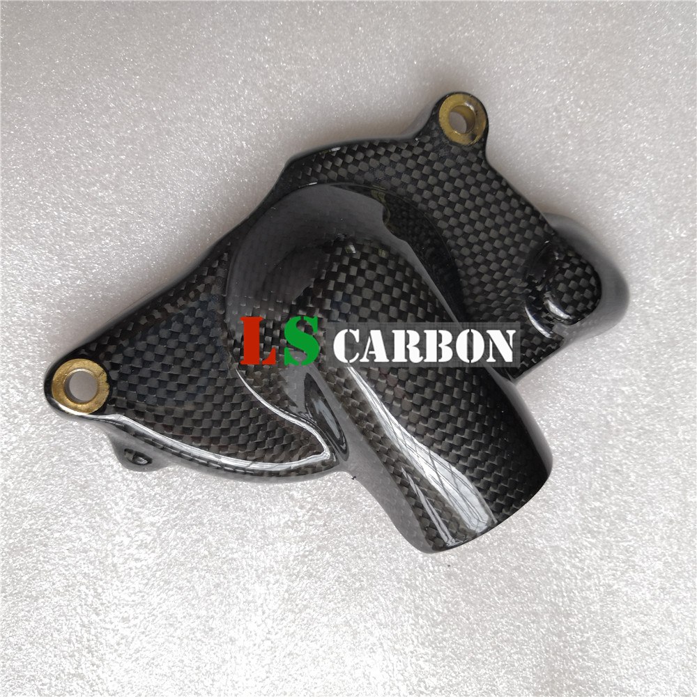Motorcycle Pump Water Cover In For DUCATI 749 848 999 1098 1198 S4RS 998 Full Carbon Fiber 3K