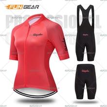 цена на Pro Women Cycling Set MTB Bike Clothing Female Bicycle Clothes Ropa Ciclismo Short Sleeve Road Bike Jerseys Bib Shorts Pants Pad