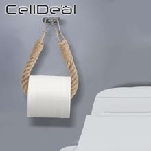 Shelves Towel-Rack Toilet-Paper-Holder Hanging-Rope Wall-Organizer Bathroom-Decor Knitting