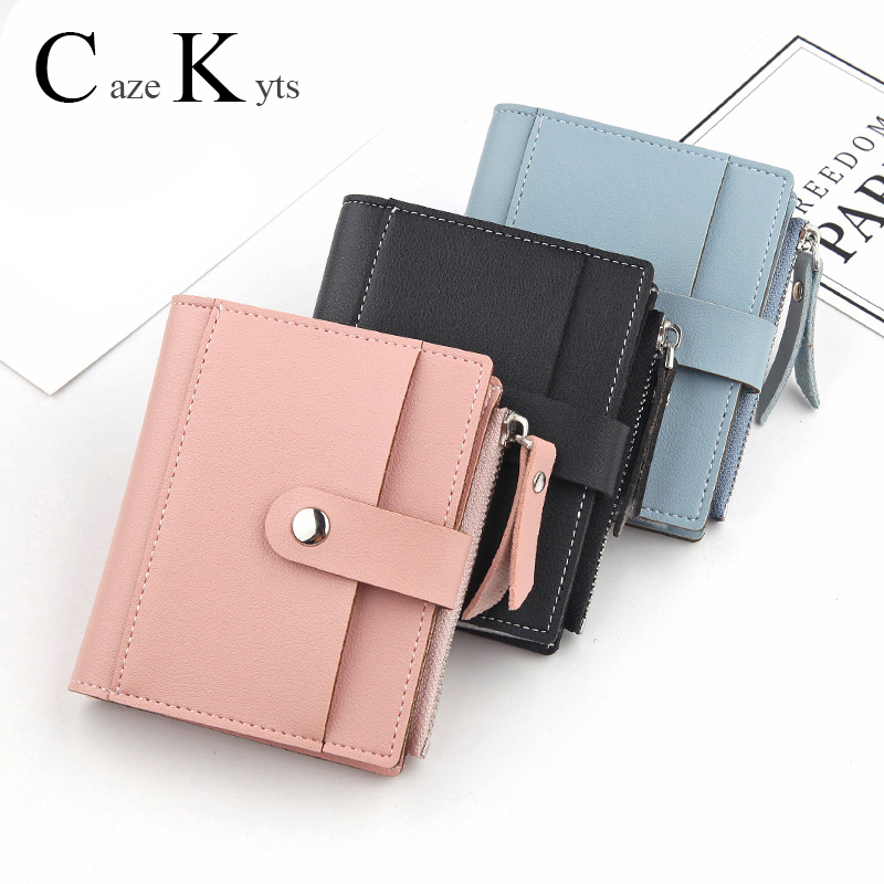 New Ladies Short Casual Zipper Buckle Small Card Bag Super Soft Leather Pocket Small Handbag, Wallet, Card Bag Purse Fashion
