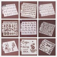 (26 estilos podem escolher) letras estênceis digitais pintura em relevo diy scrapbooking papel álbum de fotos modelo de cartão para decoração