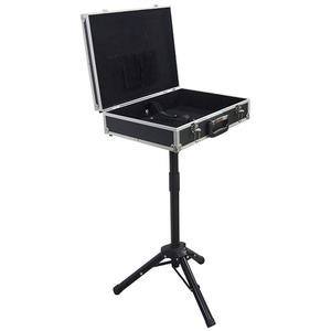 Magician Carrying Case Magic Table Tricks Gimmick Magician Suitcase with Aluminum Tripod 2020 new arrival - Black