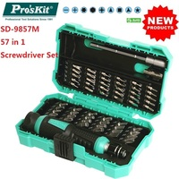 Pro'Skit 57 in 1 Screwdriver Set SD 9857M Precision Screwdriver Bits Electronic Bits Extension Bar Bits Adaptor Repair Hand Tool