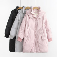 2020 New Real shot Oversize Winter Parkas Women Thicken Down cotton Coat Hooded Warm Jacket Female Plus size 4XL Outerwear G875