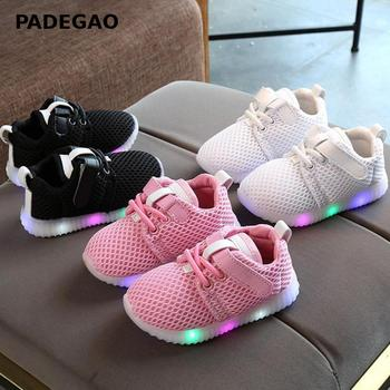 Kids Sneakers Light Up Shoes Baby Girls Boys Luminous Mesh Girl Led Lighting