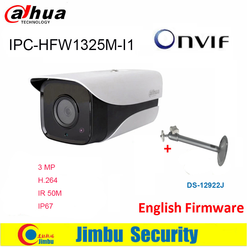 Dahua  IP Camera 3MP IPC-HFW1325M-I1 H.264 IP67 ONVIF IR30M Surveillance Network bullet Camera 3DNR Day/Night