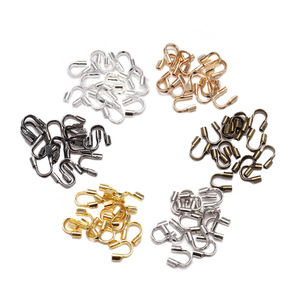 100pcs/lot 4.5x4mm Wire Protectors Wire Guard Guardian Protectors loops U Shape Accessories Clasps Connector For Jewelry Making(China)