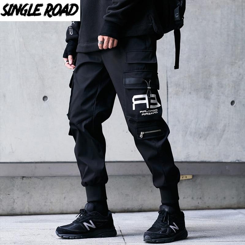 Single Road Mens Cargo Pants Men Fashion 2021 Techwear Joggers Male Hip Hop Japanese Streetwear Trousers Jogging Pants For Men