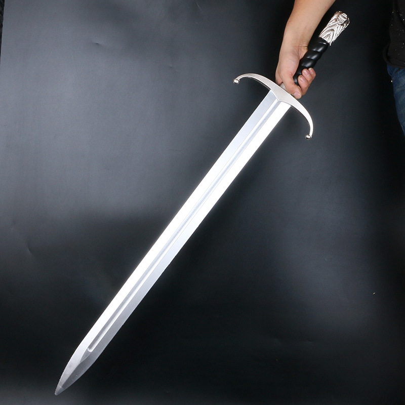 Same Game Ice And Fire Longclaw Sword Two-handed Sword Icefield Wolf Sword Frost Sword Cosplay Prop Sword Movie Pu Sword Toy