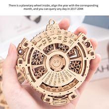 Building-Block-Kits Wood Assembly-Models Perpetual-Calendar Educational-Toy Rotating-Machinery