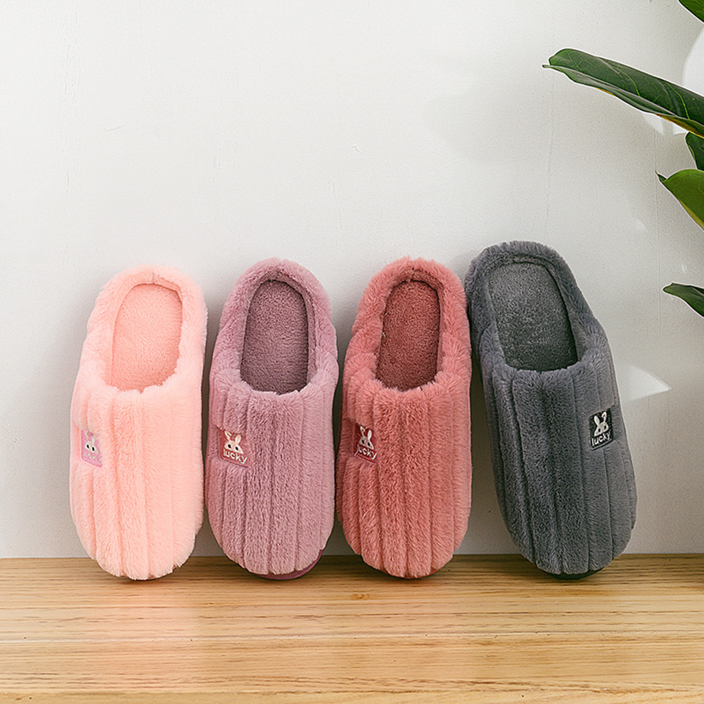 Womens Slippers Women s Home Slippers Indoor Keep Warm Package Bag Cotton Slippers Bedroom Stripe Red Large for Women