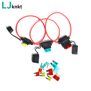 цена на 20PCS/10sets Waterproof car insurance seat Mini Small medium  for a 16AWG  Fuses Automotive Fuse Holder