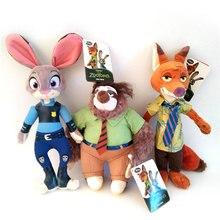 1pcs Zootopia Plush Toys Doll 24-30cm Rabbit Judy Hopps & Fox Nick Wilde Plush Soft Stuffed Animals Toys for Children Kids Gifts стоимость