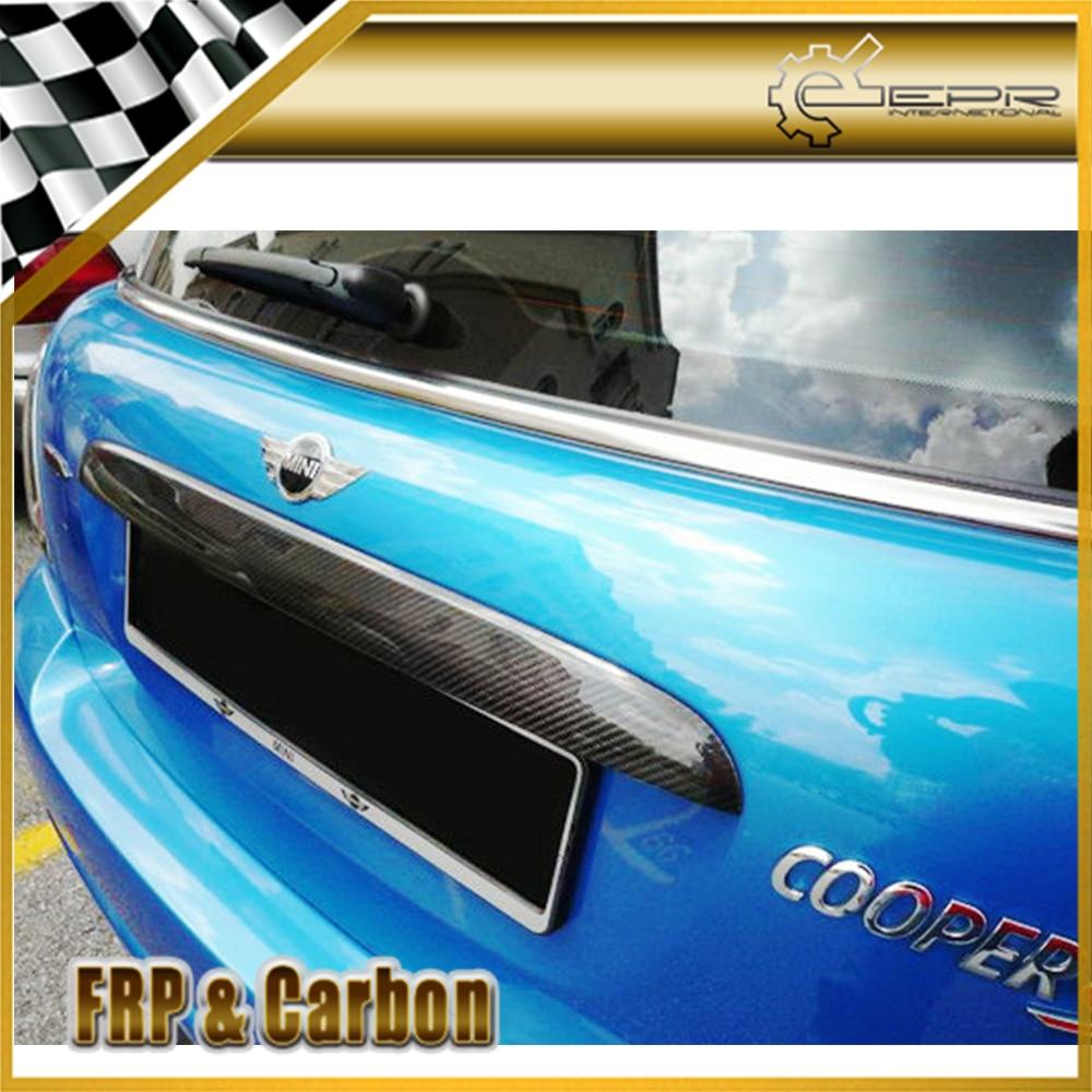 Carbon Fiber Rear Trunk Hatch Handle Decor Cover for 02-05 Mini Cooper S R53