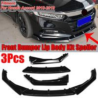 High Quality Car Front Bumper Splitter Lip Splitter Lip Diffuser Spoiler Protector Cover Trim For Honda For Accord 2018 2019