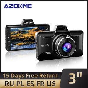Image 1 - AZDOME Dash kamera FHD 1080P gece görüş, 3 inç IPS ekran Dash arabalar için, ön panel kamerası DVR park monitörü