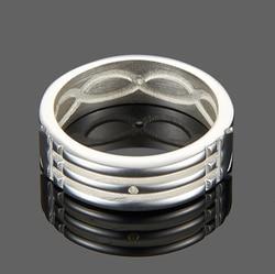 Bague en acier inoxydable pour hommes, bague Atlantis, fiançailles/mariage, bijoux