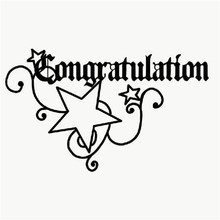 Naifumodo Word Dies Congratulation Star Metal Cutting for Scrapbooking Card Album Embossing  Craft Template