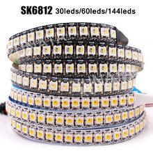 DC 5V SK6812 RGBW RGBCW RGBNW WWA Led Strip 4 in 1 Similar WS2812B 30 60 144 LEDs Individual Addressable Led Light 1m 2m 5m