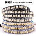 DC 5V SK6812 RGBW/RGBWW RGBNW гПа светодиодный полосы 4 в 1 подобных WS2812B 30 60 144 светодиодный s индивидуальный адресат светодиодный светильник, 1 м, 2 м, 5 м