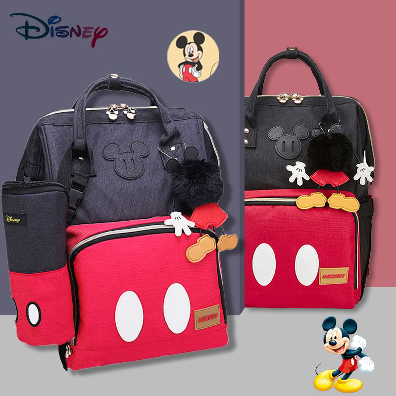 Disney Fashion Mummy Diaper Bags Maternity Nappy Large Capacity Baby Bag Travel Backpack Nursing Mom Bag For Baby Care Baby Bag