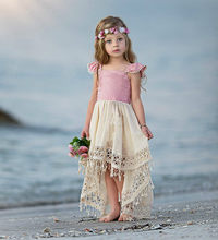 1-5 Year Summer Toddler Kids Little Girls Tutu Princess Dress Lace Fly Sleeve Sundress Party Wedding Birthday Dresses(China)
