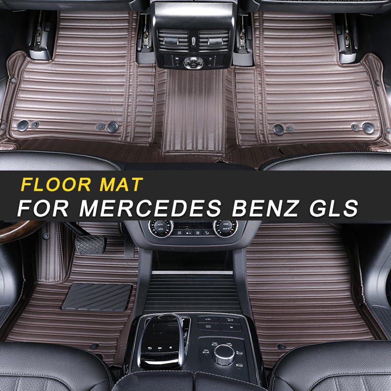 3D MAXpider Tappetini per Auto per Mercedes-Benz Classe GLS SUV X166 2016-2019 Protezione per Tutte Le Condizioni Adattamento Personalizzato Anteriore e Posteriore, Nero