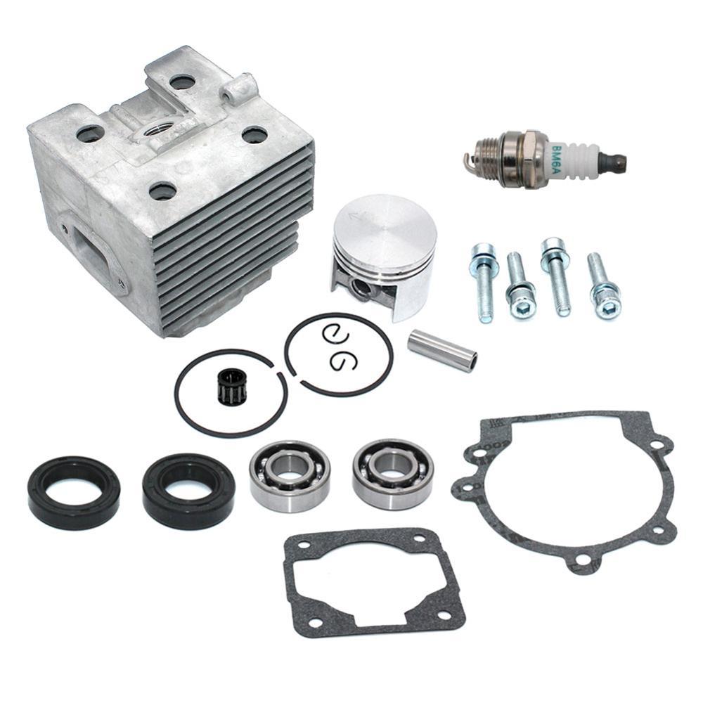 Cylinder Piston Kit Gasket Spark Plug For Stihl  BR320 BR320L SR320 BR340 BR340L BR380 BR400 BR420 BR420C SR400 SR340 SR420