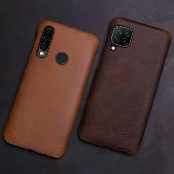 Leather Phone Case For Huawei Mate 40 30 20 20X 10 P20 P30 Lite P40 Pro Plus P Smatr Nova 5T Y6 2018 Y9 2019 Crazy Horse Cover