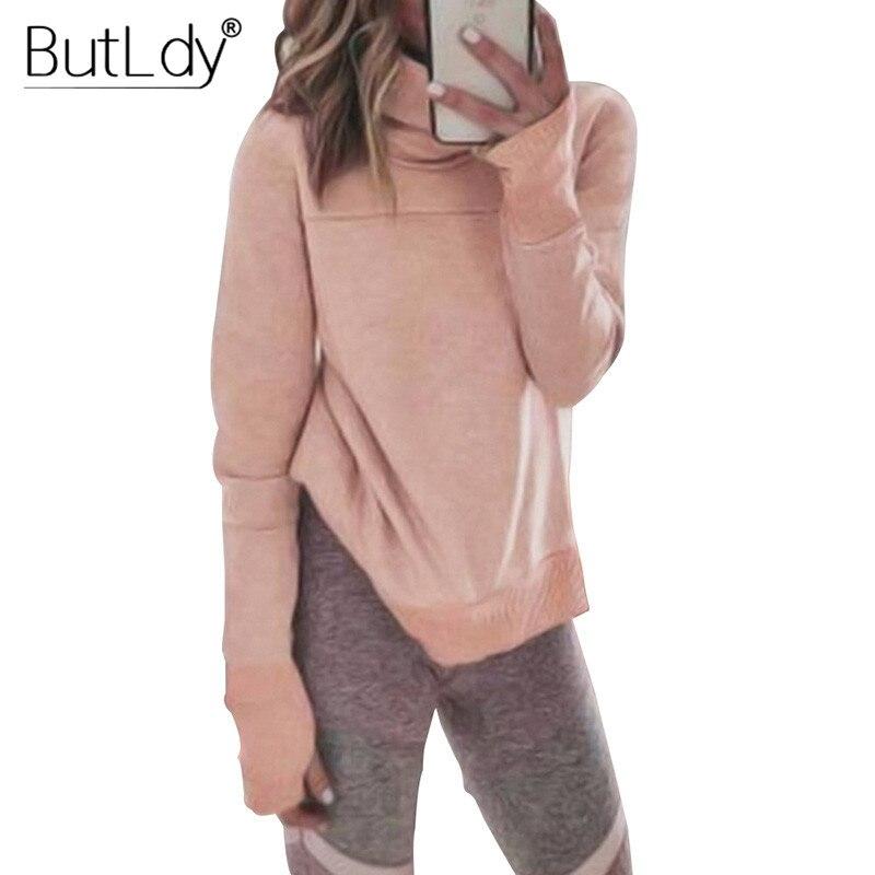High Turtleneck Scarf Collar Sweatshirt Women 2019 Autumn Winter Fashion Casual Pink Hoodie Female Hoodies for